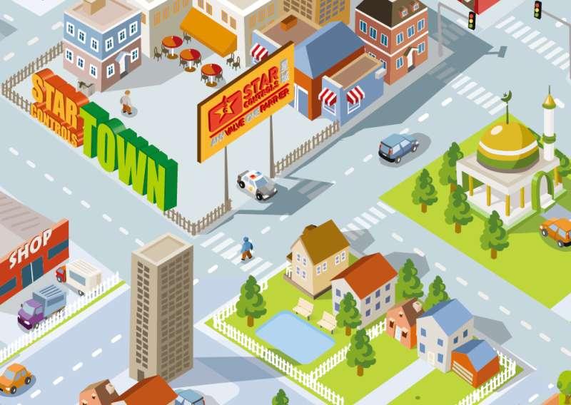 社区小镇游戏界面ui设计