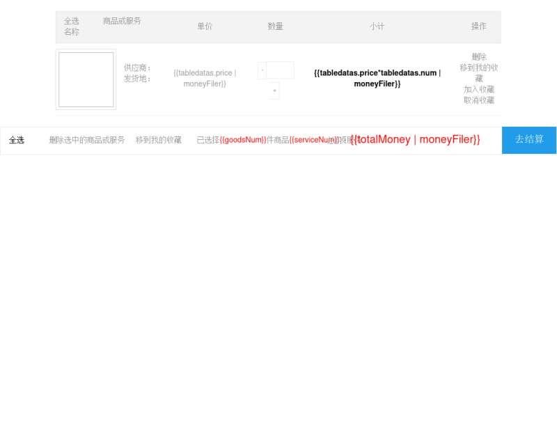 vue實現的購物車商品累加結算功能代碼