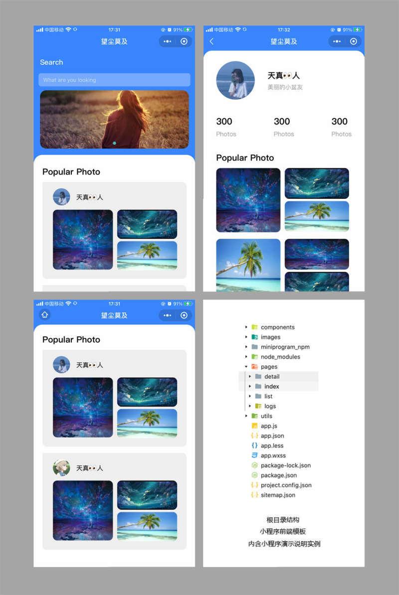 图片相册社交类小程序模板