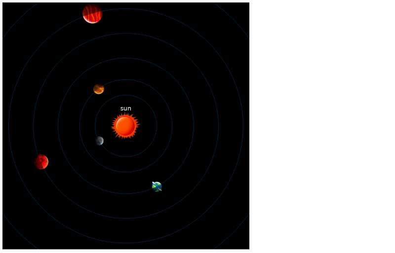 html5 canvas太阳系九大行星运行动态图代码
