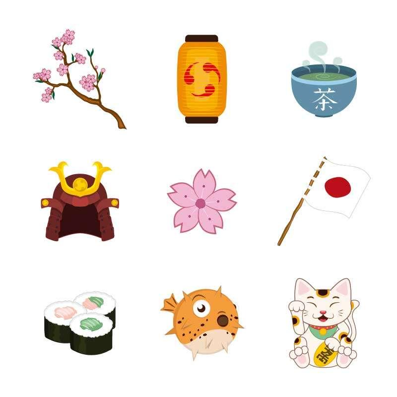 日本动漫图标下载_精美卡通的日本元素图标素材下载