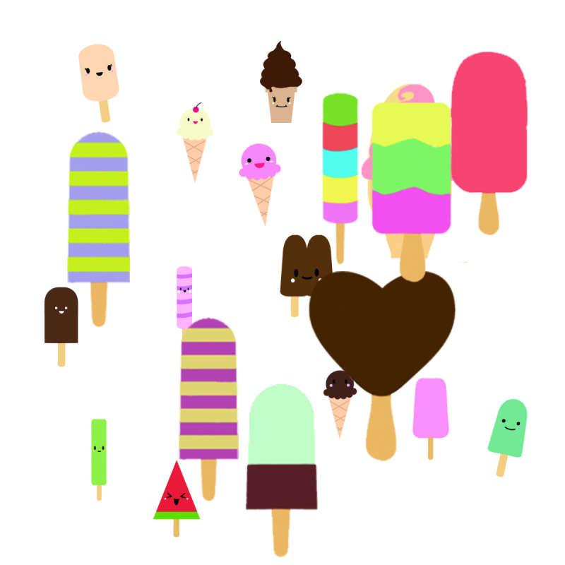 卡通可爱的雪糕冰激凌图标素材下载