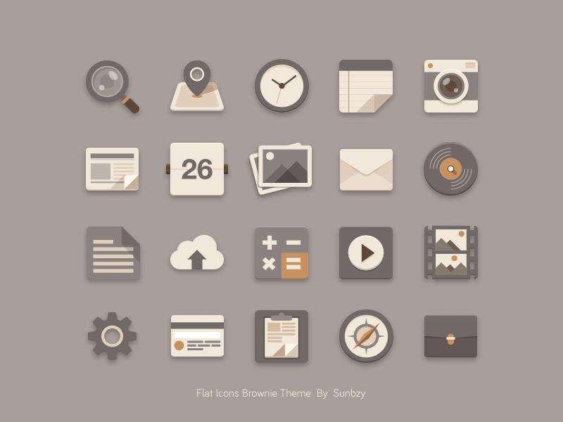 灰色系列的手机app应用工具图标素材
