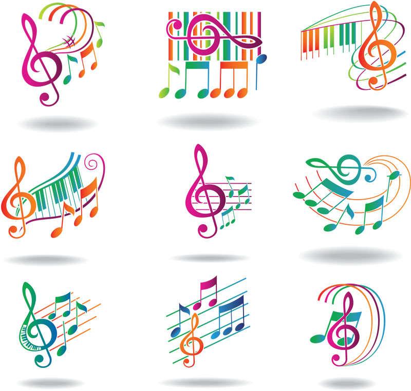 动感音符图标设计素材下载