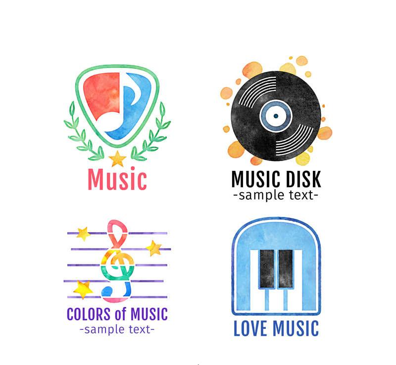 4款精美创意音乐图标素材下载