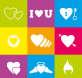 白色创意的爱心表白图标素材下载