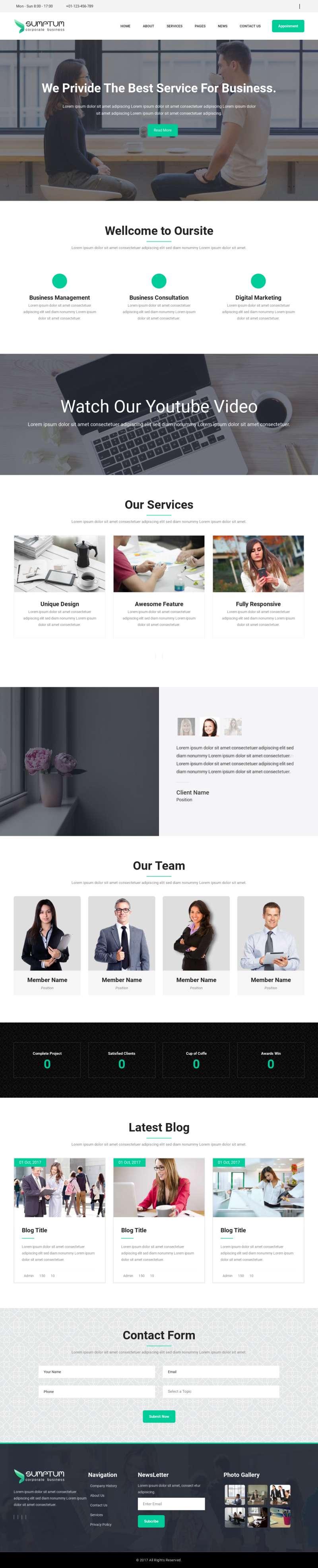大气的商务咨询业务公司网站模板