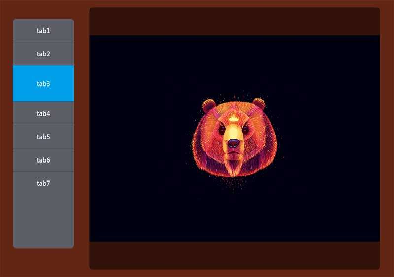 jQuery滑动图片垂直选项卡切换代码