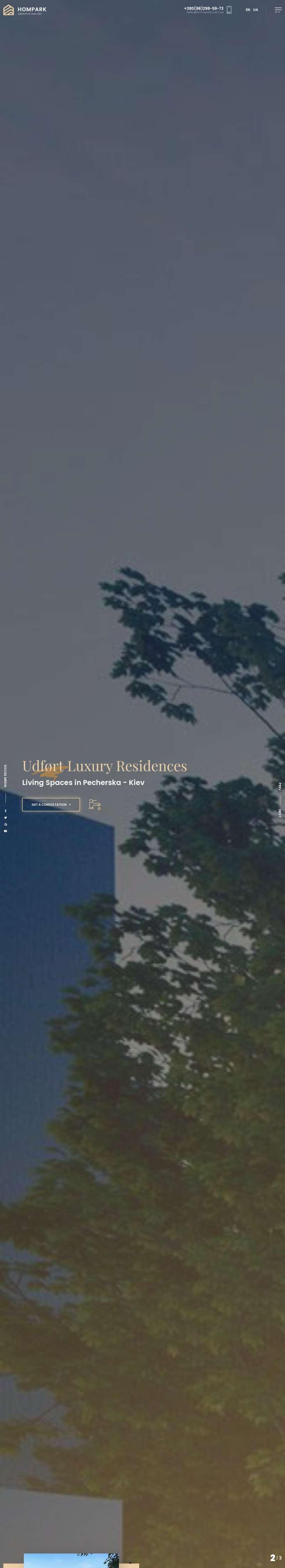 大氣的樓盤銷售公司網站Bootstrap模板
