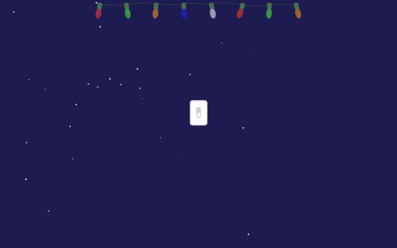 挂着彩灯下雪网页动画特效