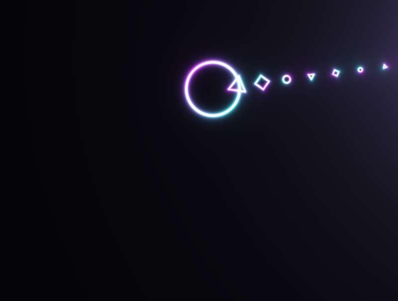 酷炫的几何图形3D动画特效