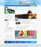 蓝色的政府商业服务首页模板设计