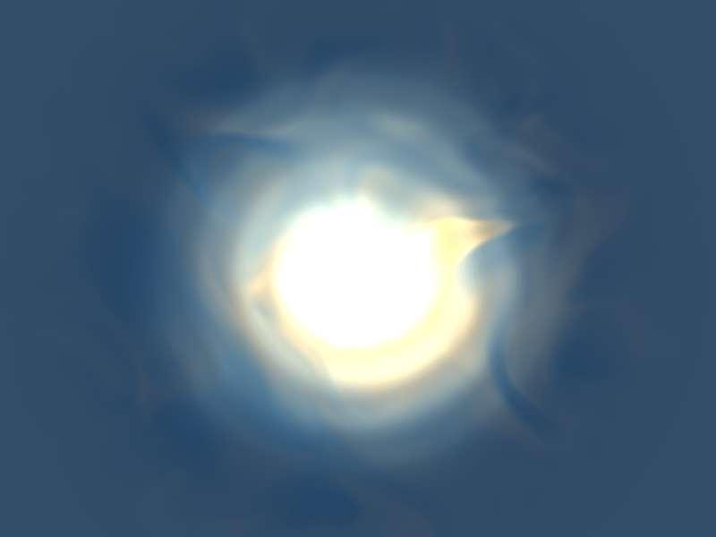 html5 canvas绘制水面下太阳动画特效