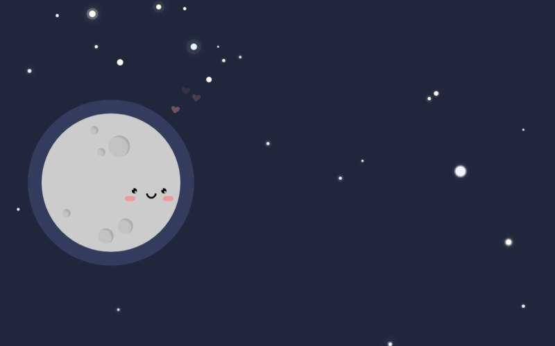 css3卡通月亮星空动画场景