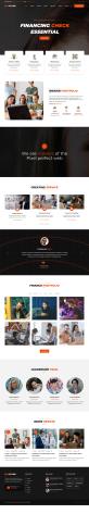 橙色的金融业务公司网站HTML5模板