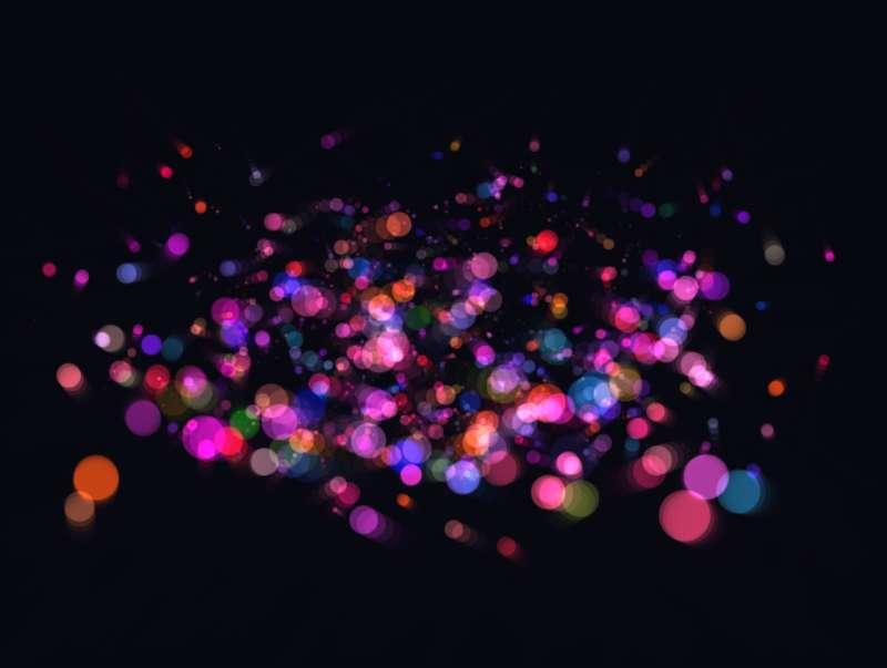 html5 canvas彩色密集圆点粒子旋转特效