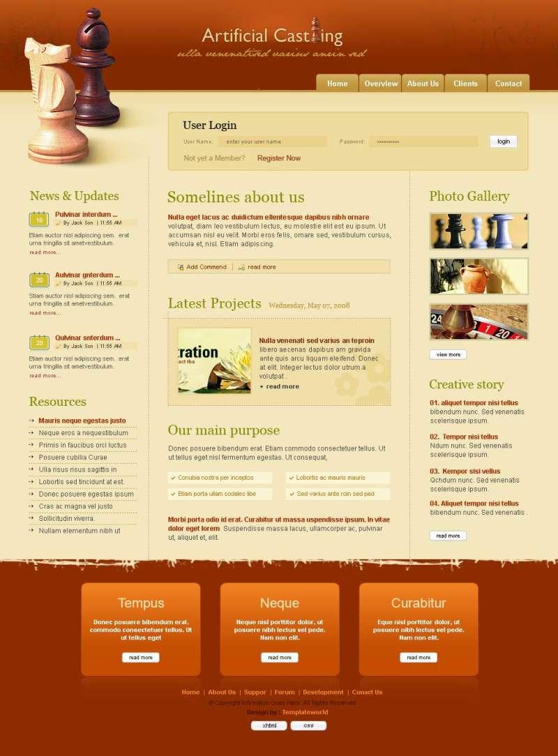 深色的网站首页psd html个人主页博客模板下载