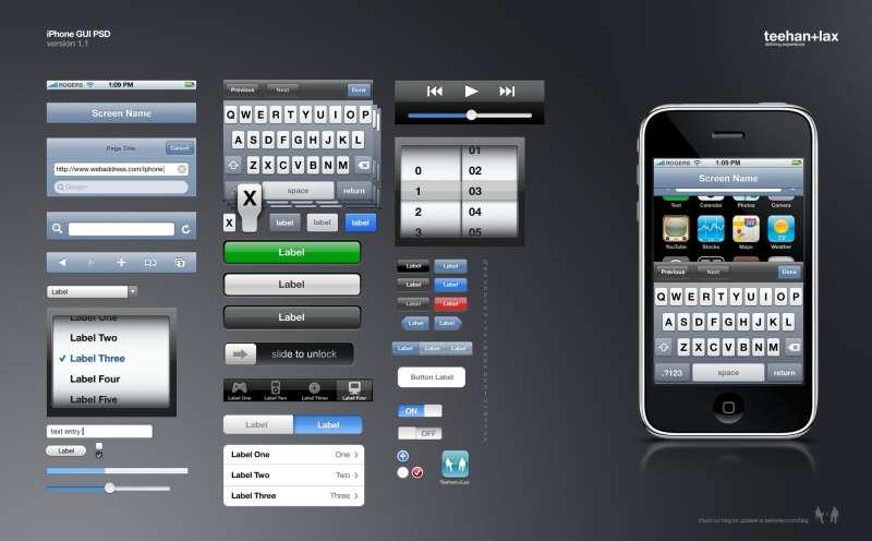苹果手机界面多个组件ui素材下载