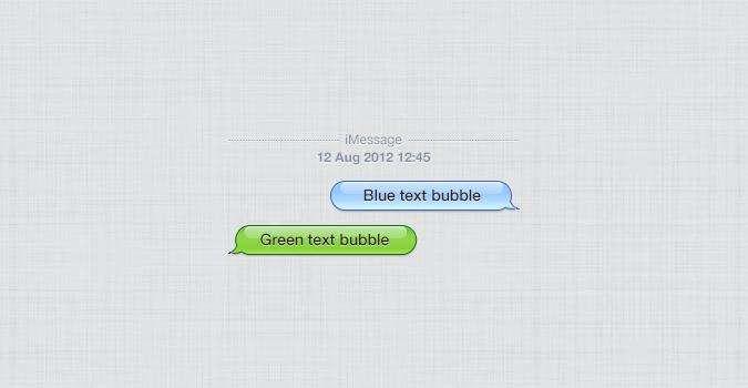 iphone手机气泡信息样式_iphone发送短信息气泡样式
