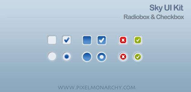 复选框按钮样式设计_单选框按钮样式设计_psd分层素材下载