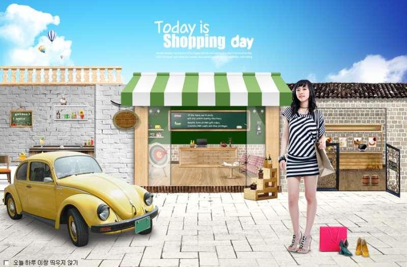 时尚购物女性商城活动广告banner设计图片素材下载