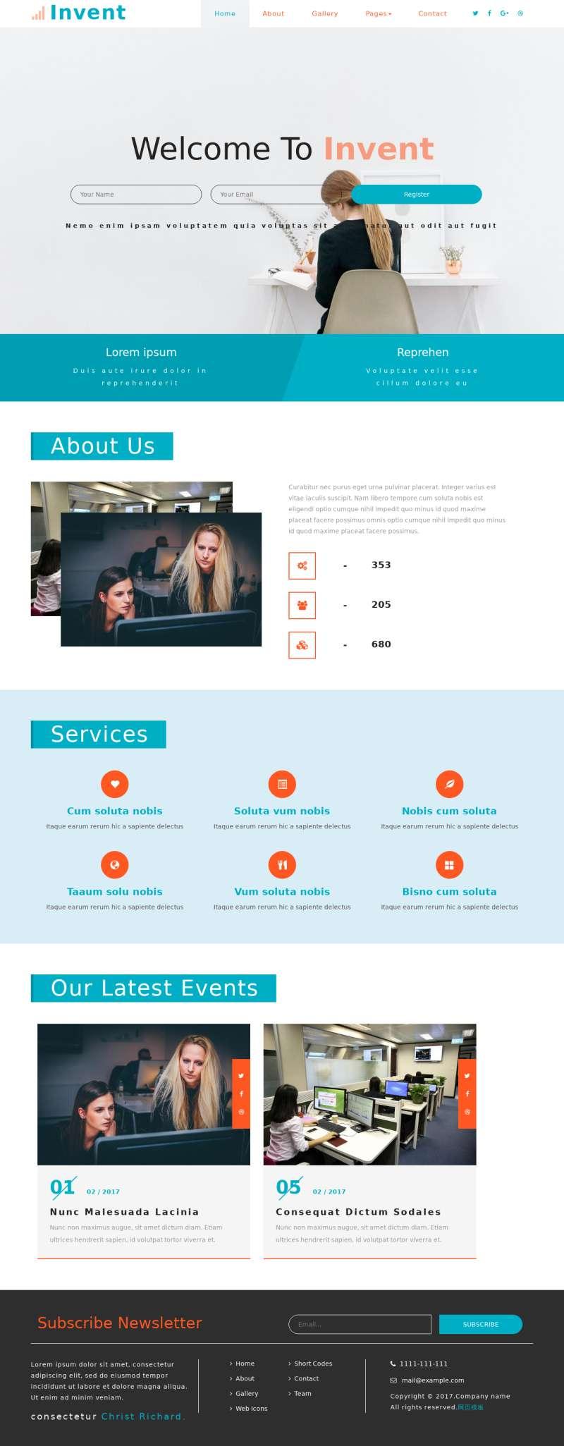 通用的商务服务公司网站模板