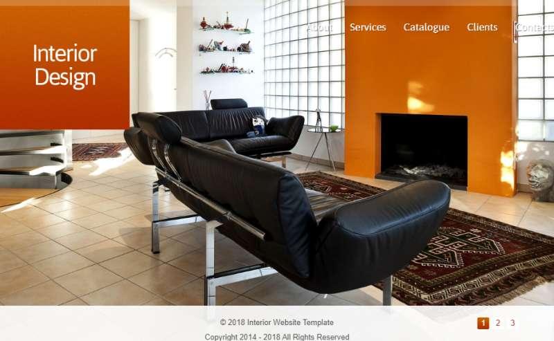 html5全屏大气的室内家具企业单页模板