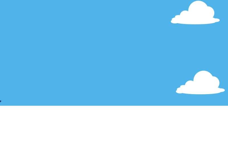 html5空中飞机起飞动画场景特效